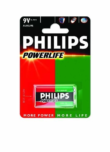 alkalische Batterie Powerlife 1er-Blister 6LR61 (E) 9 Volt  - Philips