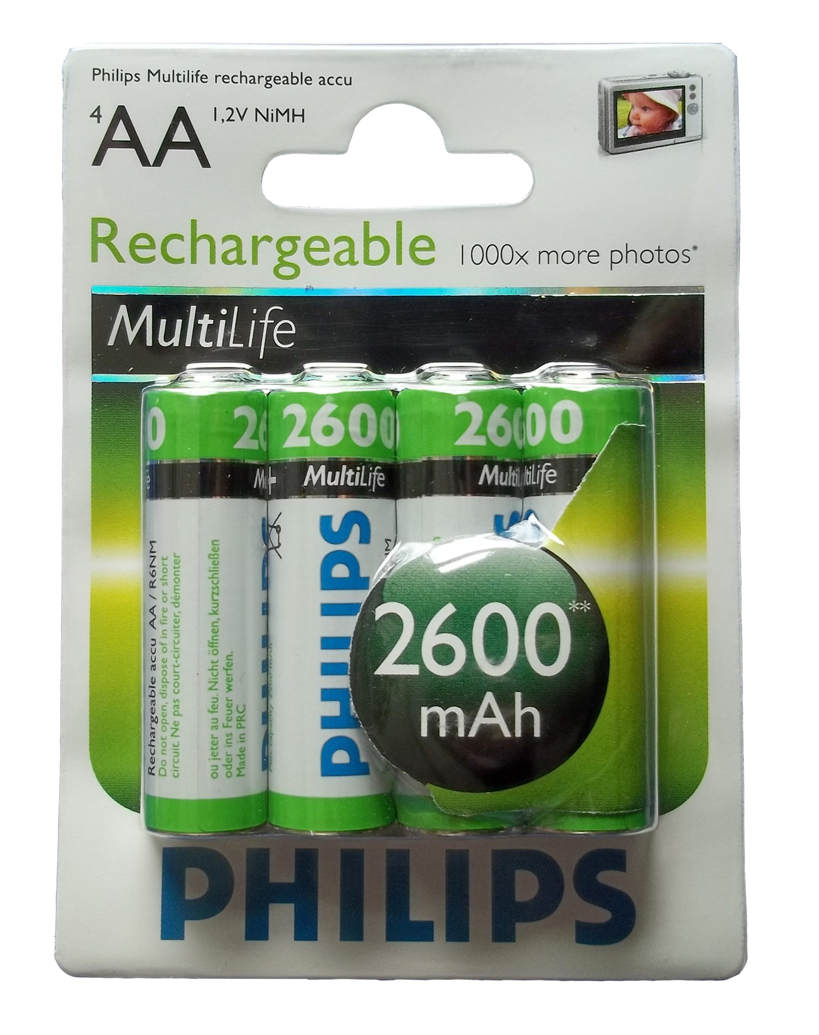 Multilife Akku R6 2600mAh AA 4er Blister - Philips