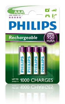 Multilife Akku R03 950mAh AAA 4er Blister - Philips