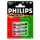 alkalische Batterie Powerlife 4er-Blister LR03 (AAA)  - Philips